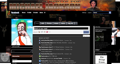 facebook skin layout - theme for facebook with Michael Jackson