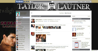 facebook skin layout - theme for facebook with Taylor Lautner 2