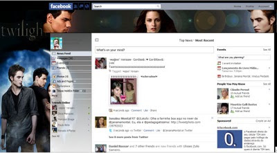 facebook skin layout - theme for facebook with Twilight 2 - Crepusculo