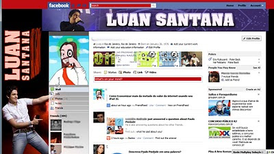 facebook skin layout - theme for facebook with Luan Santana - Tema para Facebook