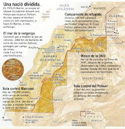 Mapa del Sàhara Occidental