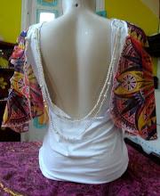 Customização de uma camisa básica inspirada na Art nouveau