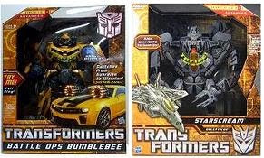 Leader Starscream + Battle Ops Bumblebee