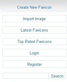 favicon menu