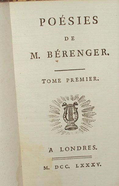 poésies Bérenger Valade Cazin