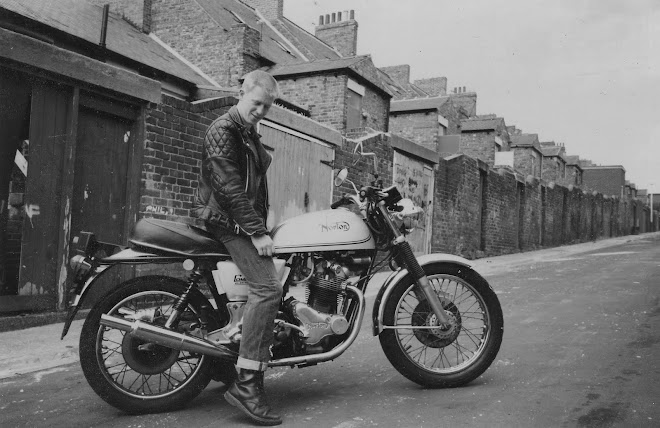 Me on my newly acquired 1975 Mk3 Commando. Newcastle, 1988.