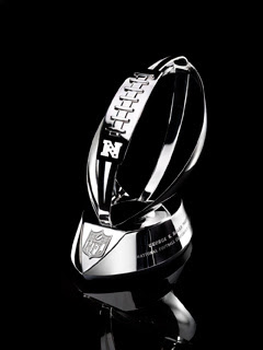 new NFC Championship trophy