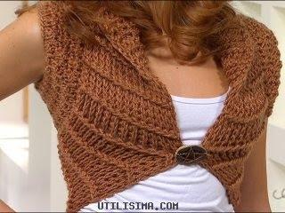 Utilisima     Manualidades Y Artesan  As   Bolero Al Crochet