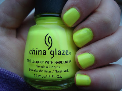 china glaze yellow polka dot bikini