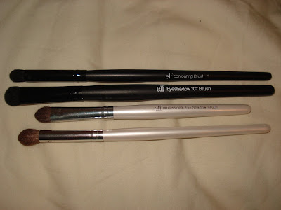 ELF eyeshadow and blending brushes