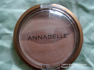 annabelle zebra bronzing powder haute gold