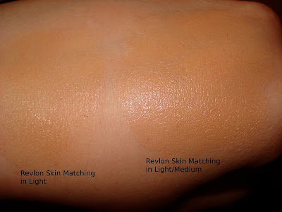 revlon skin matching makeup light vs light medium