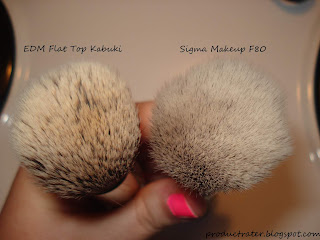 sigma makeup f80 vs edm flat top