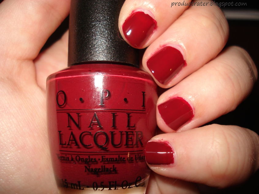 Opi All Lacquered Up Is A Beautiful Creme Clic Dark Red It S Darker In Person And I Feel Like If Do More Than Two Coats On This Starts Looking