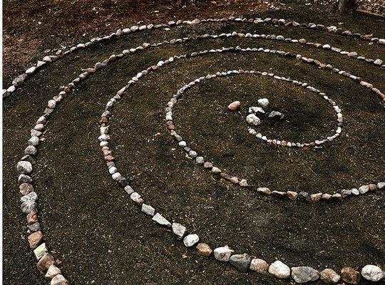 espiral de piedras