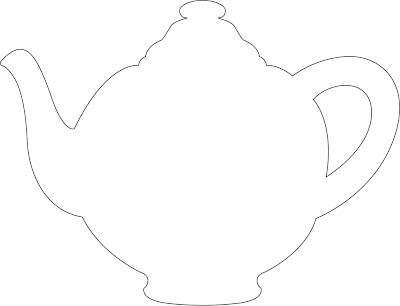 Striking image inside teapot printable
