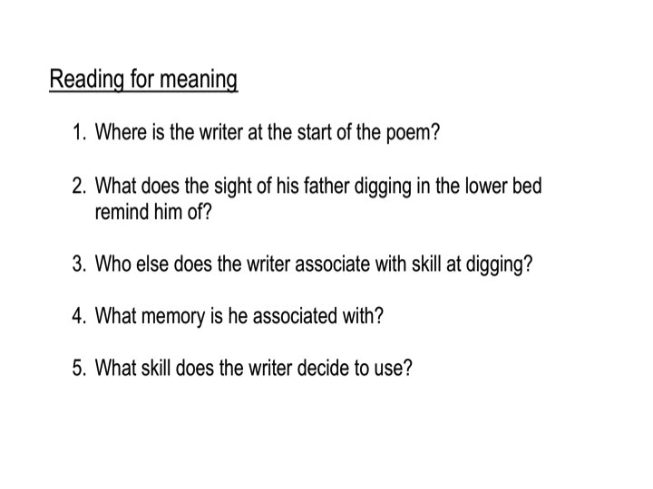 an analysis of the poem digging by seamus heaney Digging by seamus heaney  the poem begins with our speaker at his desk, his pen poised to begin writing here is an analysis of the poem digging by seamus heaney heaney was an irish playwright, poet, and academic he won the nobel prize for literature in.