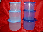 TUPPERWARE TEXTURED CANISTERS