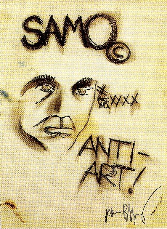 [BASQUIAT_Sem_titulo_Samo_Antiarte1979_Caneta_feltro_lapis_caneta_Spapel26.5x20.5cm]