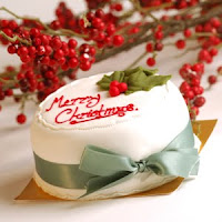 Christmas Cake Desktop Wallpaper