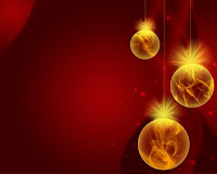 Christmas decoration hanging balls vector desktop background