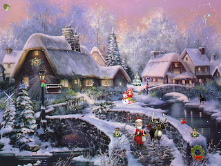 Animated Christmas Scenery Wallpapers