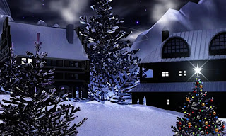 animated christmas snow tree