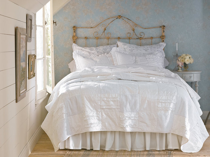 Bedroom shabby chic bedroom ideas for Shabby chic bett