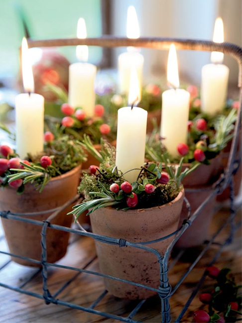 Christmas Decorating with Candles