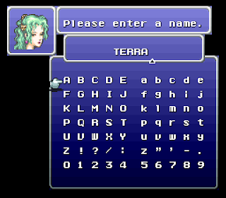 Terra's rename screen