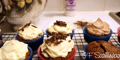 Gluten Free, The Gluten Free Scallywag, GF, baking, recipe, chocolate, almond meal, baileys, cupcakes, sweet,