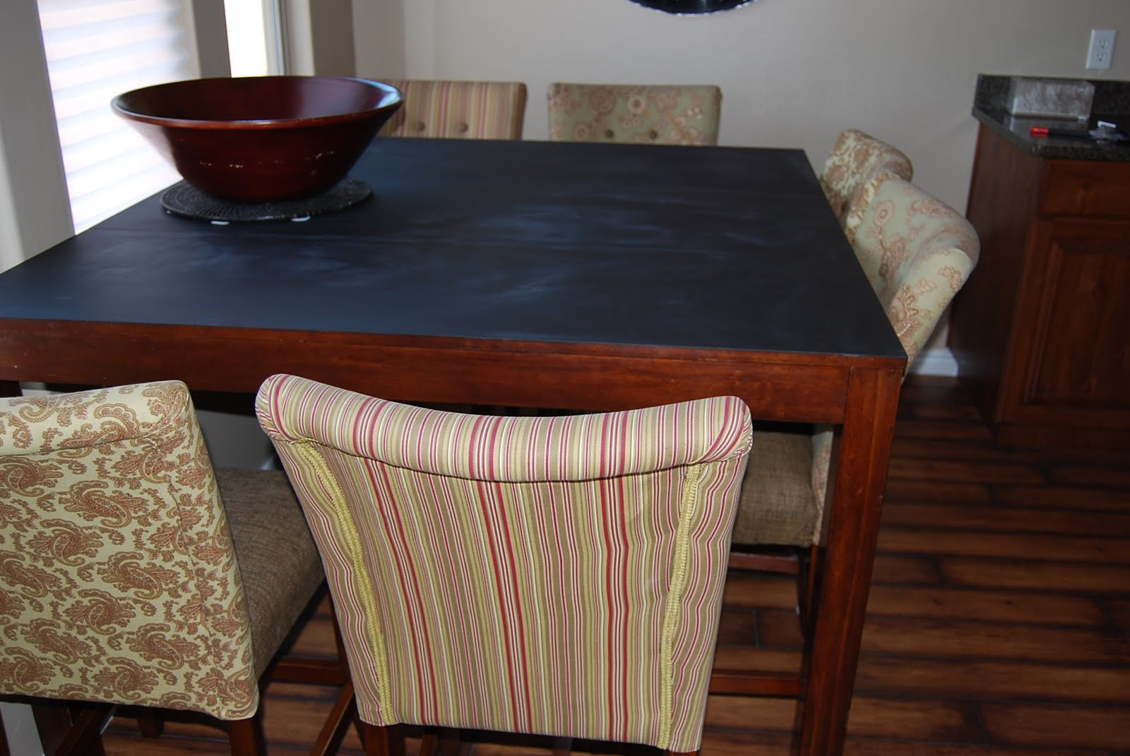 paisley passions chalkboard paint dining table