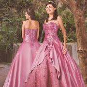 Bello vestido para tu fiesta de 15 años de color rosado. studio homecomingdresses