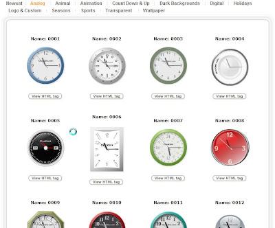 Orologi per blog Clocklink
