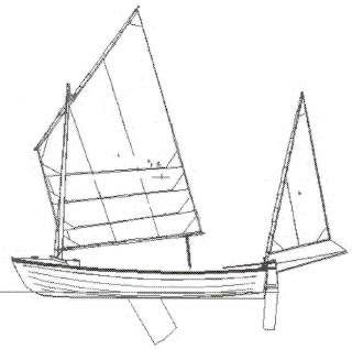 Designer's sketch of sailing boat I'm building