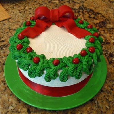 Sweet Art Factory: Christmas Wreath Cake