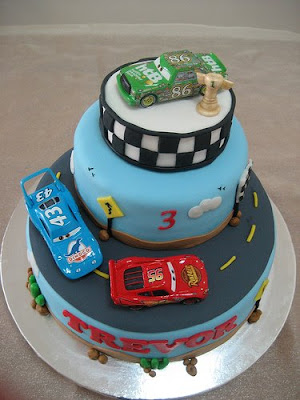 cars cake design. Trevor#39;s cars cake