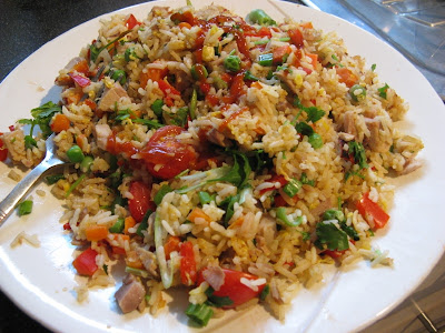 Hot and delicious egg fried rice