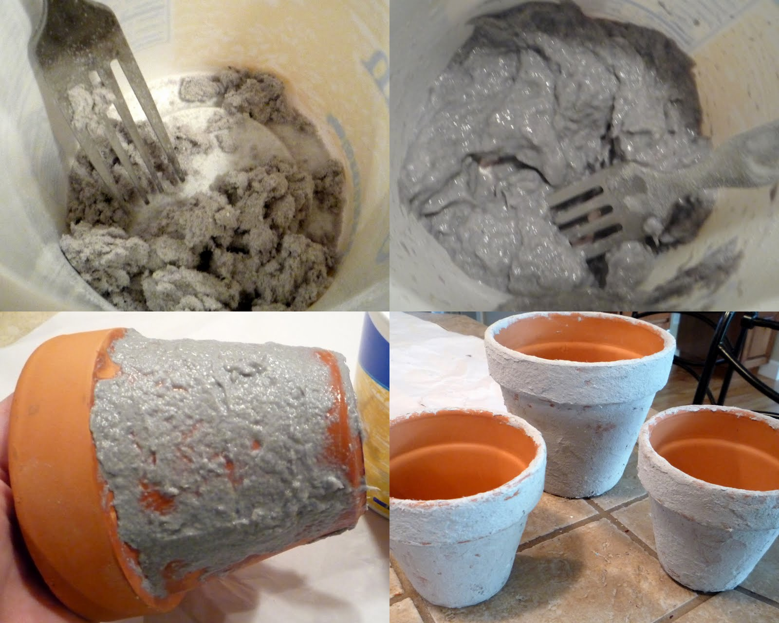 how to make clay pot of poweder