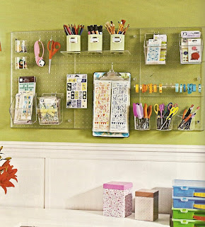Crafty sisters pegboard organizing for Craft room pegboard accessories