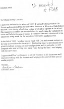 Letter from BSD board member and mother of student...