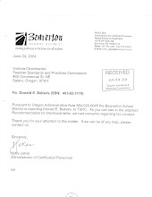 "Hollis Lekas, former Beaverton HR admin., June 2004 ""complaint"" to TSPC..."