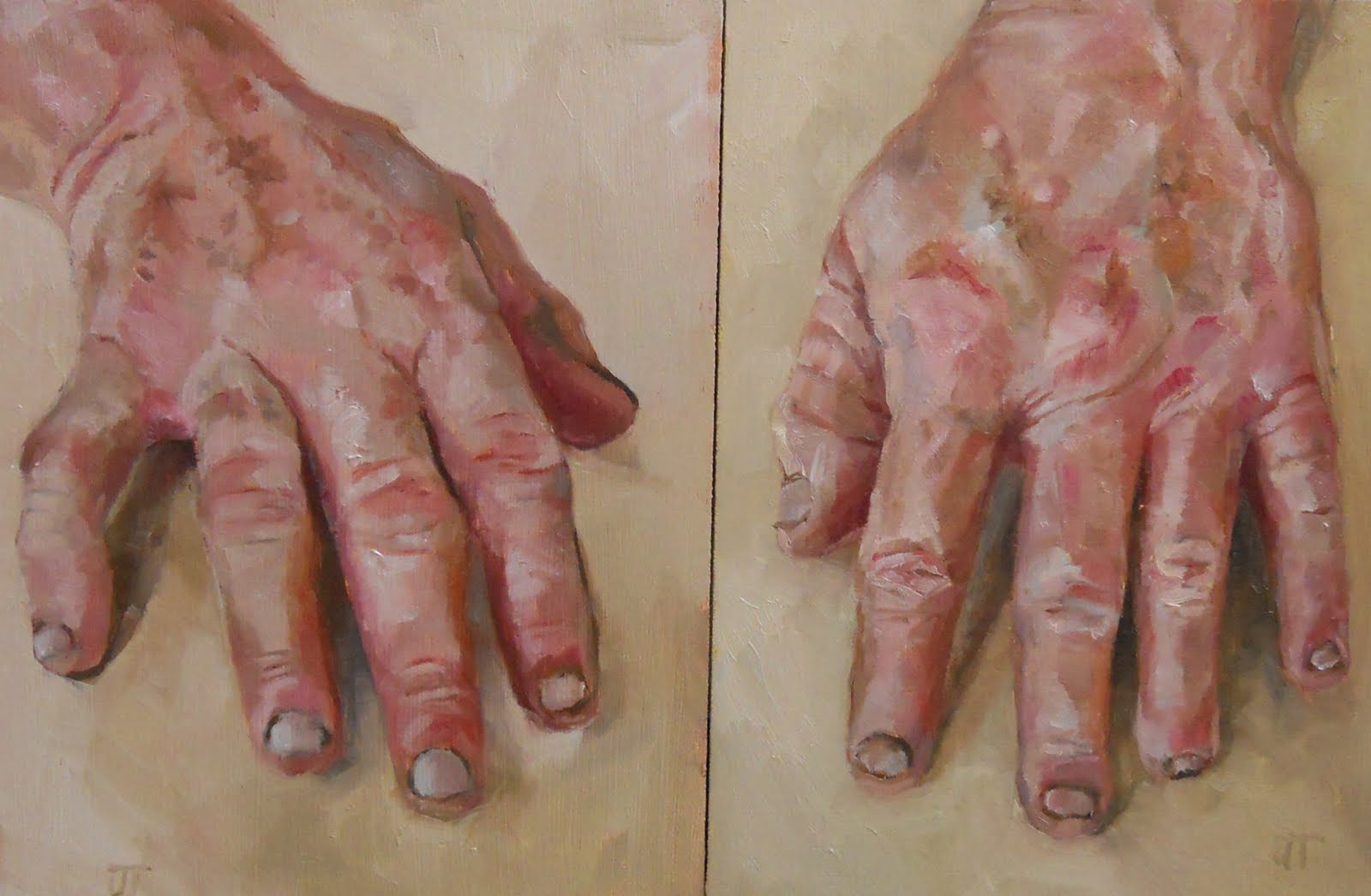 Jean townsend 39 s daily painting two hands j d for Watercolor paintings of hands