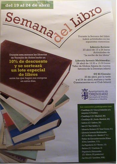 Eventos en libreria infantil iuvenis multimedia abril 2010 - Libreria torrejon de ardoz ...