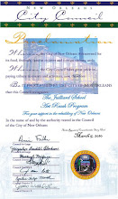 Proclamation from the New Orleans City Council