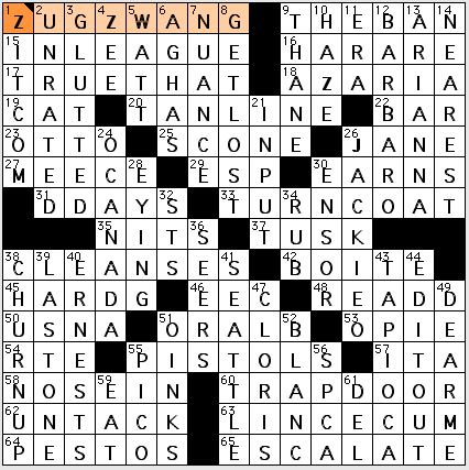 Solutions to Crossword Puzzle as Issued on the Newsletter dated March ...