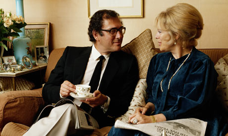 Harold Pinter and Lady Antonia Fraser photographed in 1985. Photograph: David Montgomery/Getty Images