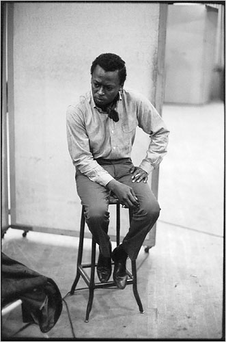 Miles Davis in the recording studio