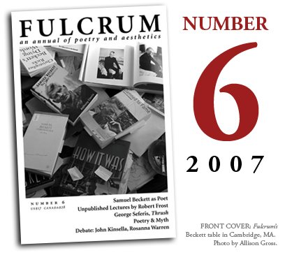 Fulcrum (Issue 6): Samuel Beckett as Poet