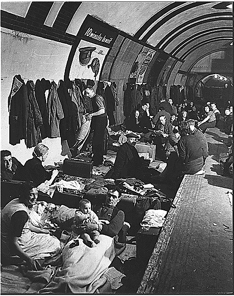 London Underground air raid shelter in the West End